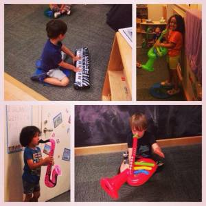 After all that learning, the kids played with some instruments of their own and created their own jazz ensemble.