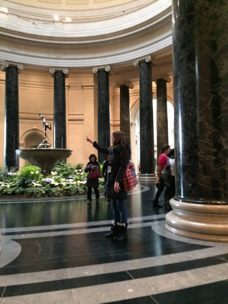 And inside the National Gallery of Art.