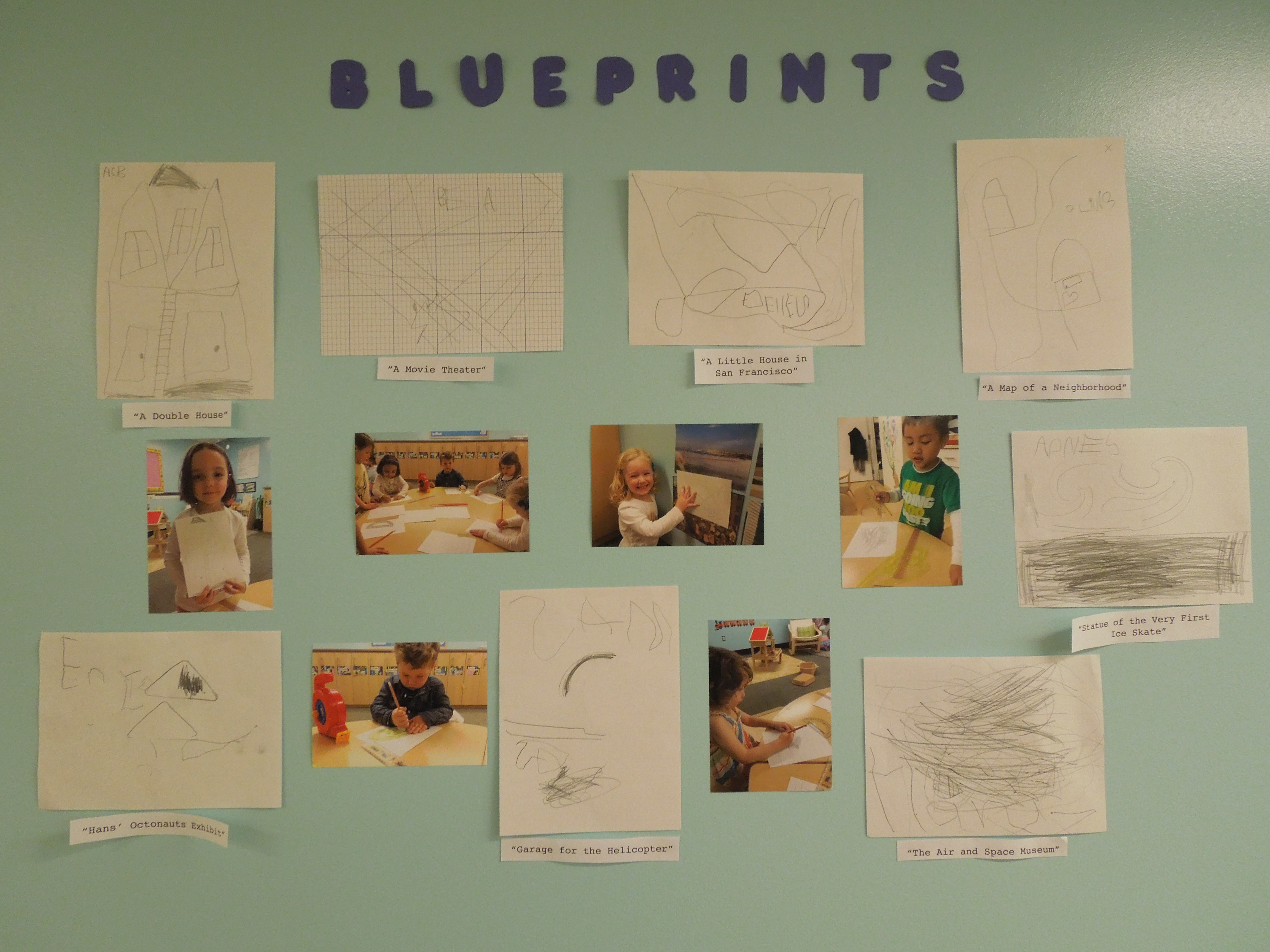 Teacher feature preschool classroom explores architecture seec throughout the week the group studied blueprints and worked on their own sketches malvernweather Gallery