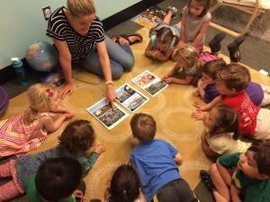 Erin Pruckno with her PreK3 Wallaby Class