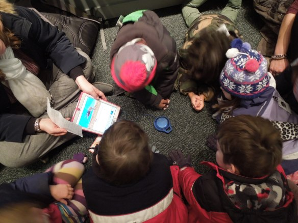 Kindergartners learn about the variety of mosquitoes through images and sounds.