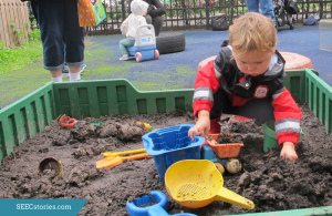 mud box, dirt, play
