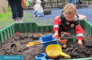 mud box, dirt, play